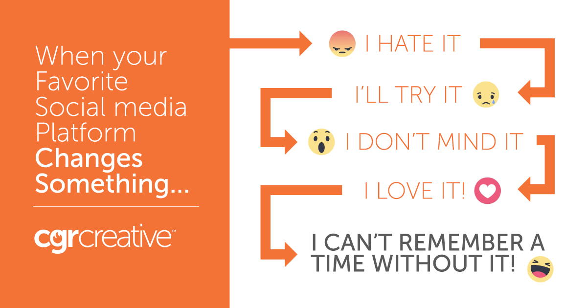 dealing with social media changes