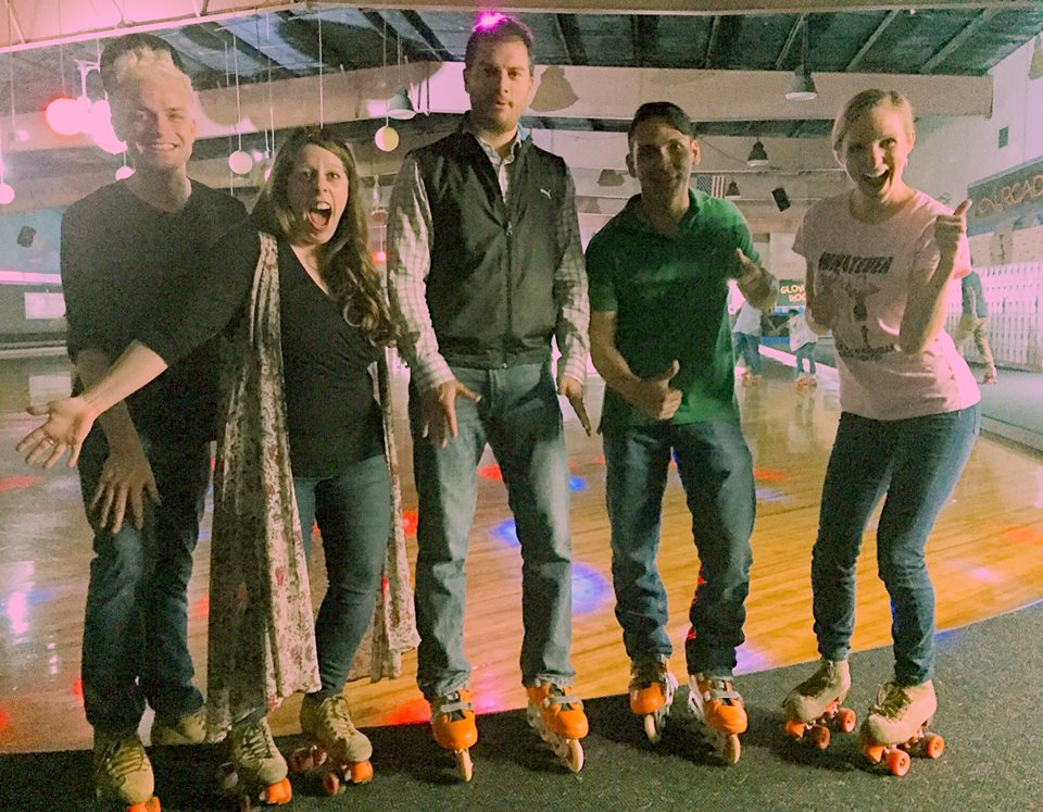 Celebrating Steph's birthday with a good ol' surprise ROLLER SKATING party!