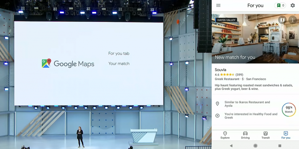 Google Maps For You - Your Match