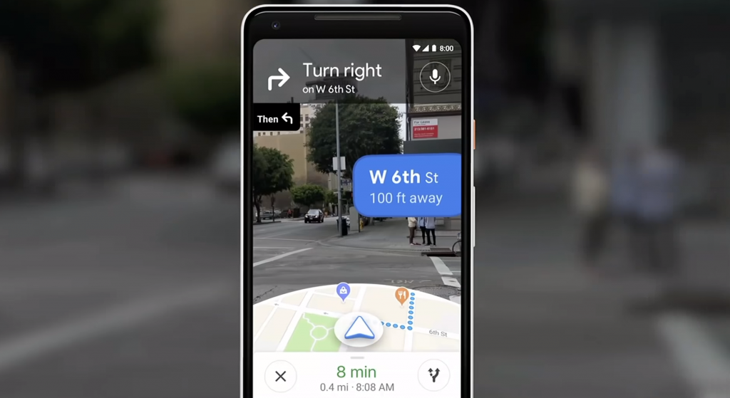 Google Maps Walking Navigation with Street View